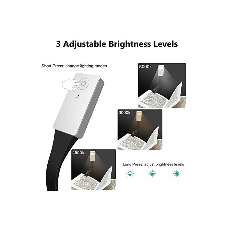 LED-Reading-Light,USB-Rechargeable-Eye-Care-Book-Reading-Light-Clip-On