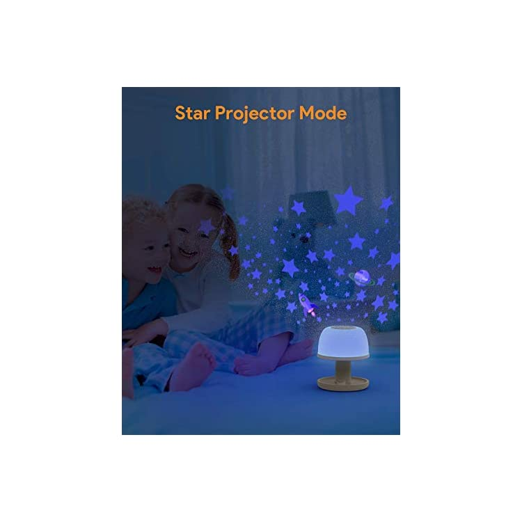 Wireless-Night-Light-for-Kids-with-Star-Projector,-Cordless-Dimmable-Bedside-Lamp-with-Timer,-Eye-Caring-Nursery-Night-Light-for-Baby-Toddler-with-Color-Changing,-Warm-White-Light
