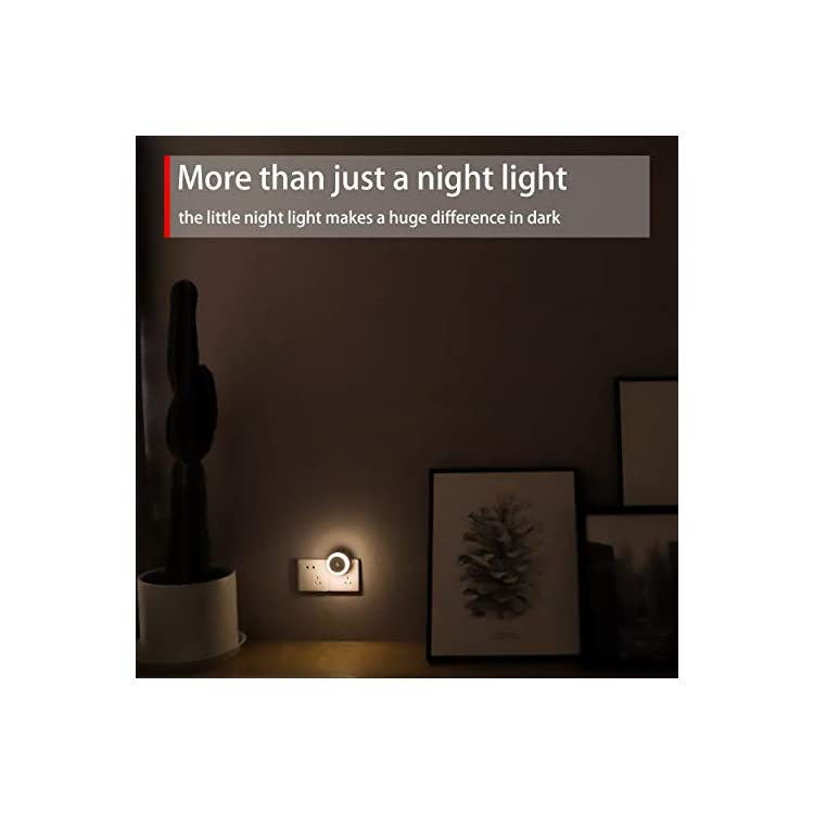 Plug-in-Night-Light,-Light-Sensitive,-Low-Light-Warm-LED-Nightlight-with-Sensor,-Round,-Soft-Glow,-4-Pack,-for-Indoor-Use