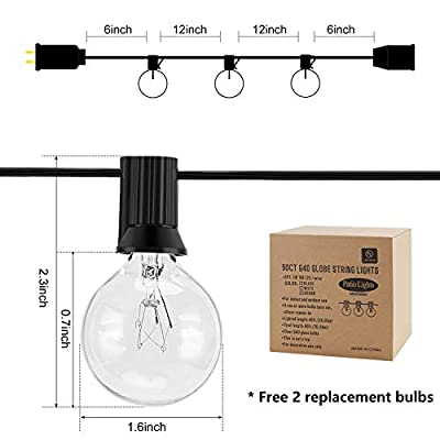 G40-Globe-String-Lights-with-Clear-Bulbs,-Decorative-Lights-50-Ft/Black-Free-New-Bulb-Replacement-Explore-String-Lights-For-Fences-Patio-Porch-Backyard-Deck-Bistro-Gazebos-Pergolas-Balcony-Wedding