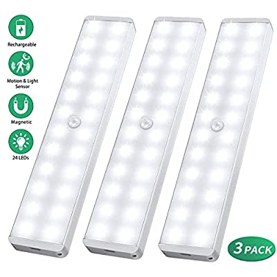 LED-Closet-Light,-24-LED-Newest-Version-Rechargeable-Motion-Sensor-Closet-Light-Under-Cabinet-Wireless-Stick-Anywhere-Night-Light-Bar-with-Large-Battery-for-Stairs,Wardrobe,Kitchen,Hallway-(3-Packs)