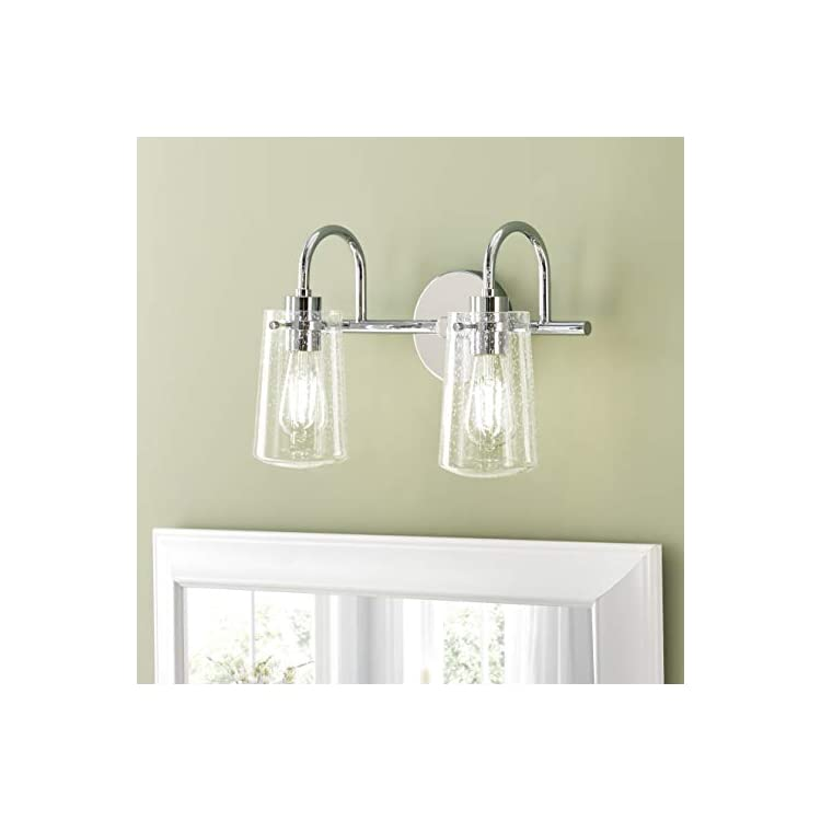 Lentia-2-Light-Hallway-Wall-Sconce-|-Brushed-Nickel-Bathroom-Vanity-Light-with-LED-Bulb-LL-WL662-1BN