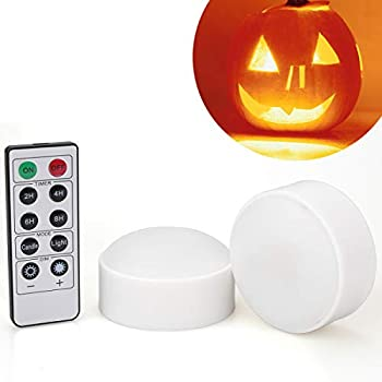 [2-Pack]-Halloween-LED-Pumpkin-Lights-with-Remote-and-Timer,-Battery-O