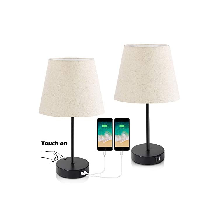 3-Way-Touch-Control-Dimmable-Table-Lamp-with-2-USB-Charging-Ports&1-Po