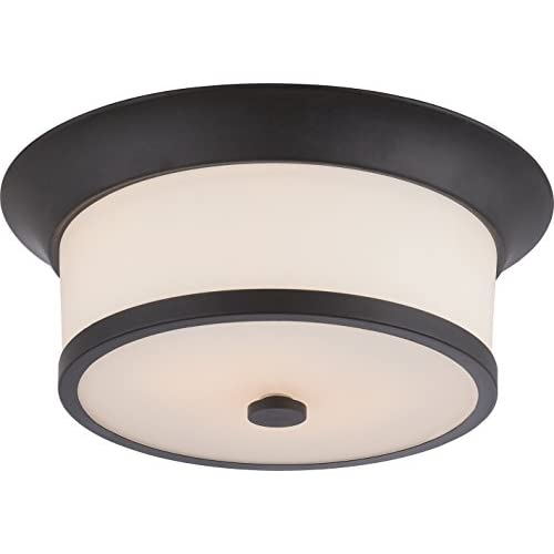 60/5560-Two-Light-Flush-Mount,-Bronze/Dark