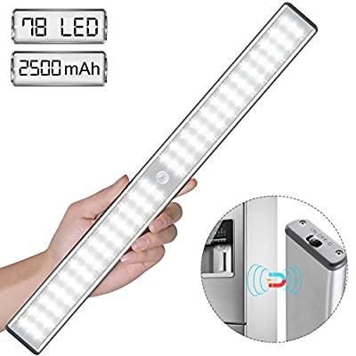Super-Bright-Rechargeable-Closet-Light-78LED,-Homelife-Motion-Sensor-LED-Lights-Under-Cabinet-Stick-on-Anywhere-with-Built-in-Magnetic