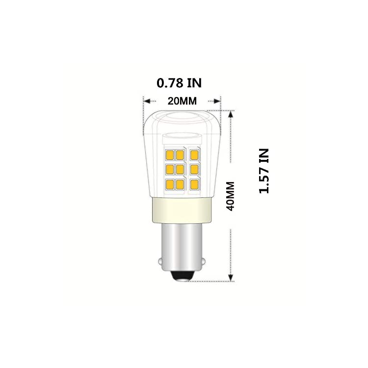 BA15S-Led-Light-Bulb-3000K-3W-AC12V/DC12-24V-1156-1141-S8-Bayonet-Base-Non-Dimmable-Waterproof-Lamp-CRI80-for-Boat,-RV,-Auto-Car-Soft-Warm-White-Pack-of-4