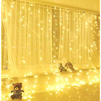300-LED-Window-Curtain-String-Lights-9.8-x-9.8-ft-LED-Curtain-Lights-8-Lighting-Modes-Indoor-Outdoor-Decorative-Christmas-Lights-for-Wedding-Party-Garden-Bedroom-Decorations-(Warm-White)