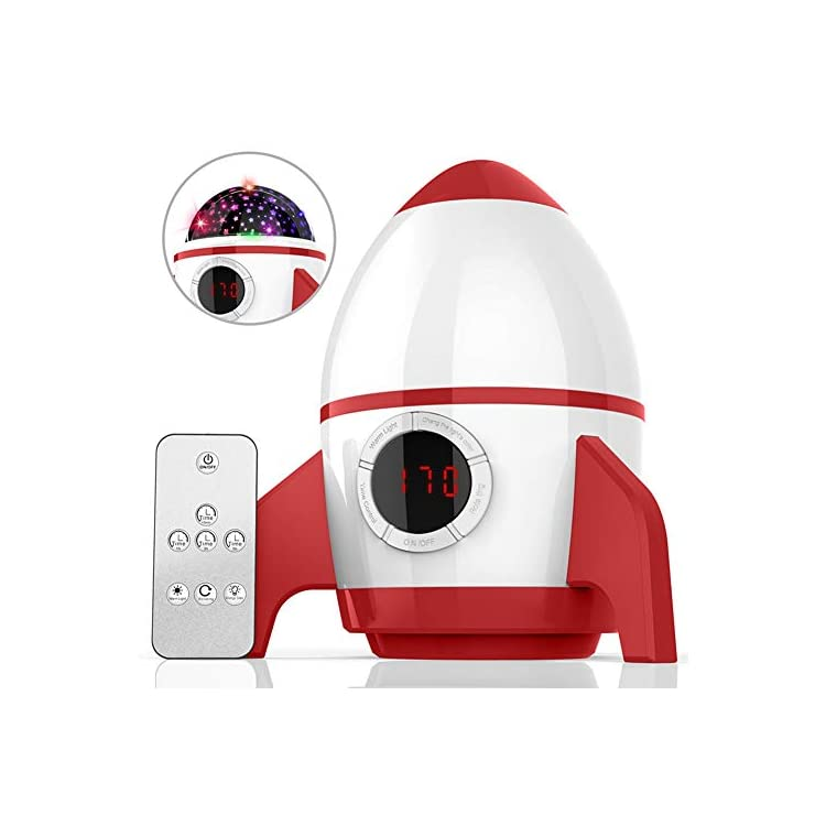 Christmas-Gifts-Star-Projector-Night-Light-for-Kids---Baby-Night-Light-Projector-for-Bedroom-with-Timer---Remote-and-Chargeable---Best-Gift-for-Kids-Upgrade-Version---Red