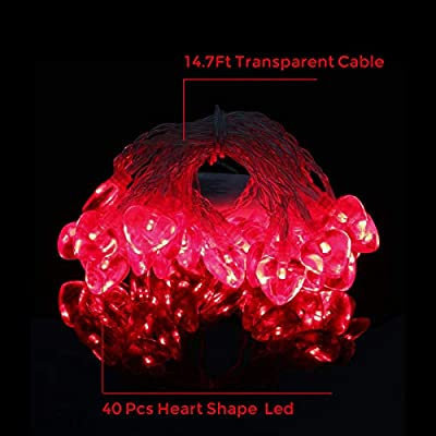 14.5ft-40LED-Valentines-Day-Decorations-String-Lights,-Heart-Shape-Valentines-Day-Decor-for-Indoor-Outdoor-Home-Room-Party-Wedding-Hanging