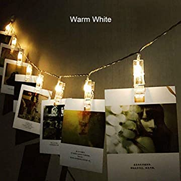 30-LED-Photo-Clip-String-Lights,-13ft-Battery-Powered-Warm-White-Indoor-Fairy-String-Lights-for-Hanging-Photos-Pictures,-Cards-and-Memos-(30-LED)