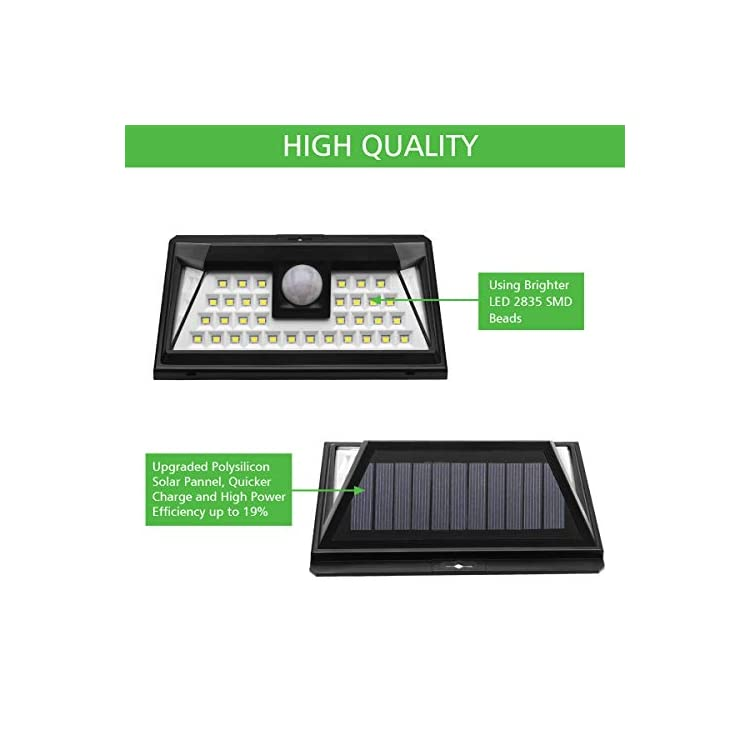 Solar-Power-Deck-Lights-Outdoor,-40-LED-Motion-Sensor-Wall-Lamp,-Wirel