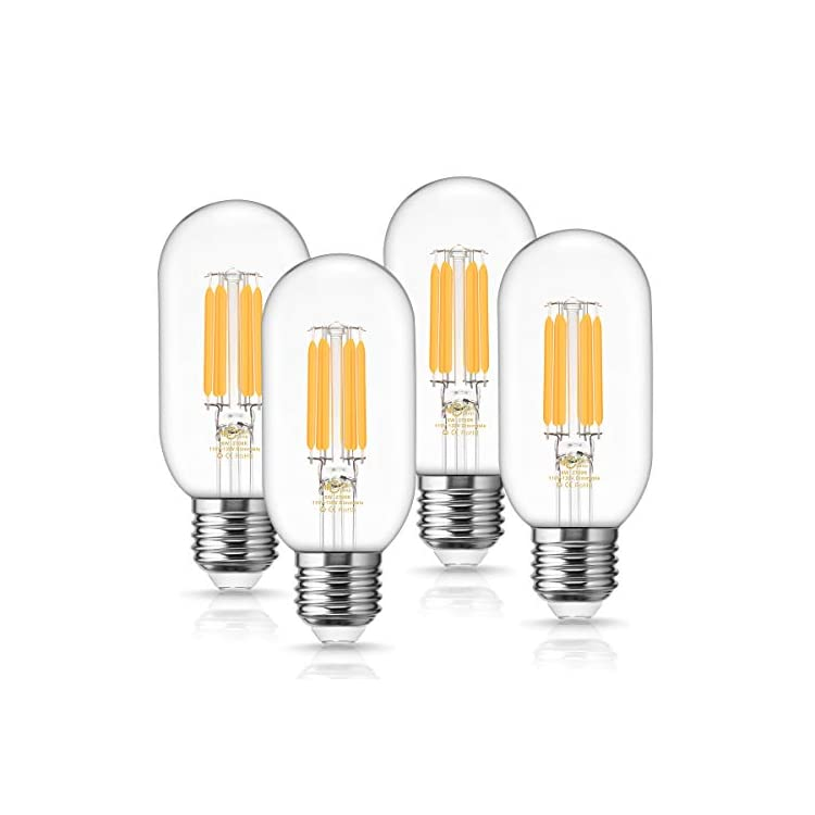 T45-Vintage-Edison-LED-Bulb,-T45-6W-Dimmable-Filament-Light-Bulb,-60W-Equivalent,-Warm-White-2700k,-E26-Medium-Base-Lamp,-600LM,-Clear-Antique-Style-Decorative-Light-Bulbs,-4-Pack