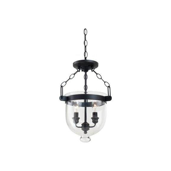 77046-715-Autumn-Bronze-Finished-Convertible-Semi-Flush/Pendant-with-Cloche-Glass-Shades