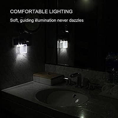 Waynewon-0.5W-Plug-in-LED-Night-Lights,-Stylish-Nightlights-with-Dusk-to-Dawn-Sensor,-White-Light-Perfect-for-Bathroom,-Kitchen-and-Hallway,-2-Pack