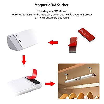 LED-Closet-Light,-Motion-Sensor-Lights,-Rechargeable-9-LED-Light-Bar-and-Magnet-Installation,-Wireless-Night-Light-for-Wardrobe-Closet-Stairs-Cabinets(2-Packs)