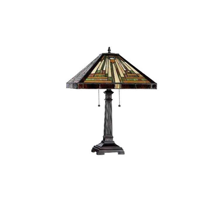 Lighting-CH33359MR16-TL2-Innes-Tiffany-Style-Mission-2-Light-Table-Lam