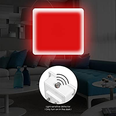 LOHAS-Red-Night-Light,-LED-Dusk-to-Dawn-Night-Lights-Plug-in,-Red-Light-Night-Light-with-Light-Sensor,-Auto-on/Off-Nightlights,-0.3W-Ultra-Slim,-Small-Sized-Light-for-Bedroom,-Hallway,-Nursery,-4-Pack