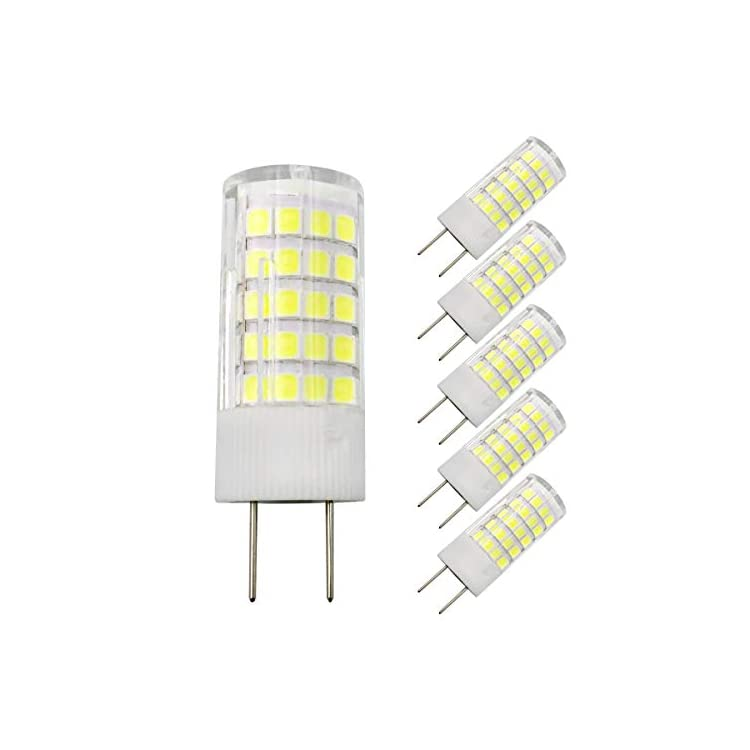 G8-LED-Bulb,-G8/GY8.6-Bi-pin-Base-Light-Bulb,-Dimmable-5W-G8-Bulb,-45W-Halogen-Bulb-Replacement,-AC-120V,-500LM,-for-Under-Cabinet-Counter-Light,-Daylight-White-6000K-(Pack-of-5)