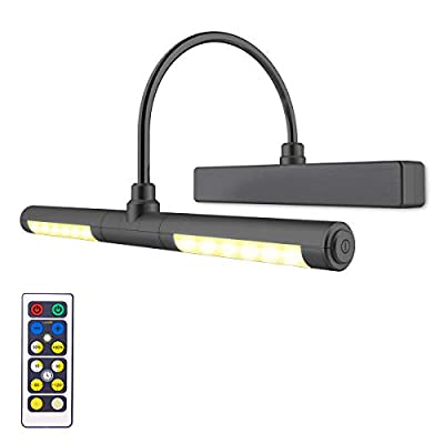 Wireless-Picture-Light-Battery-Operated,-Remote-Control-Painting-Light-with-Rotatable-Light-Head,-Dimmable-and-Timer-Off,-Wall-Art-Light-for-Pictures-Painting-Artworking-Display-Black