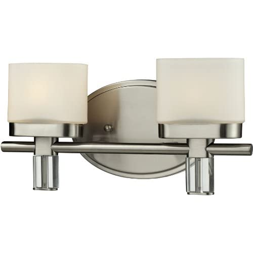 Elk-Lighting-Tassoni-2-Light-Steel-Bath-Bar,-Satin-Nickel
