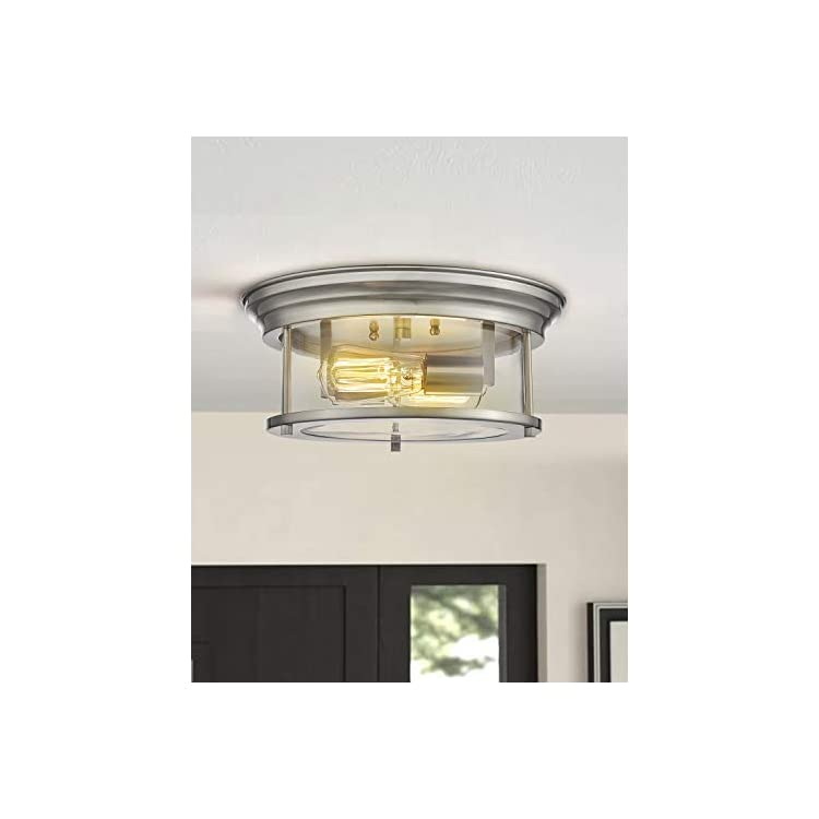 Zeyu-Flush-Mount-Ceiling-Light,-13-inch-2-Light-Indoor-Close-to-Ceilin