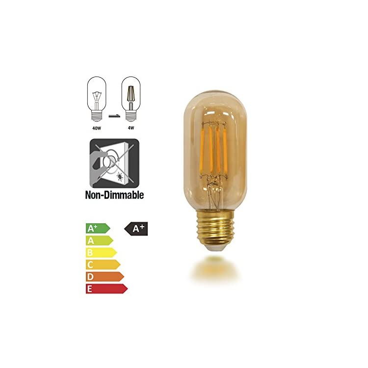 Old-Fashioned-Edison-T14-T45-E26-4W-LED-Filament-Light-Bulb-Lamp-Vintage-LED-Light-Bulbs-with-Retro-Coated-Glass-Lamp-Shade-Replace-40W-Incandescent-Light-Bulb-4-Pack-by-Enuotek