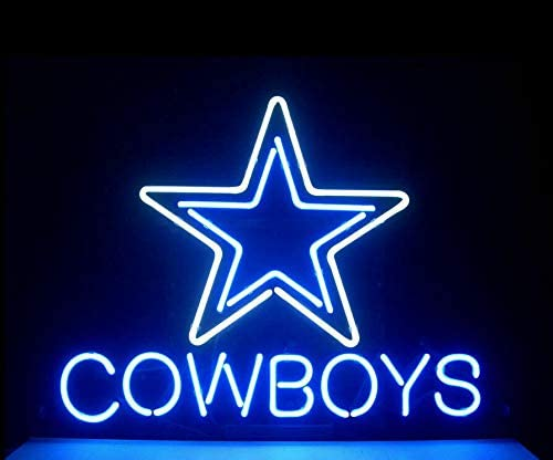 14'x10'-Dallas-Cowboy-Neon-Sign-Light-Beer-Bar-Pub-Man-Cave-Real-Glass