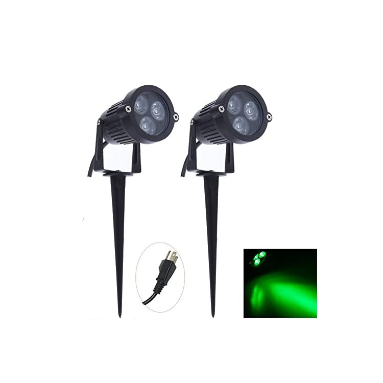 Pack-of-2-Outdoor-Water-Resistant-LED-Lawn-Garden-Landscape-Lamp-Wall-