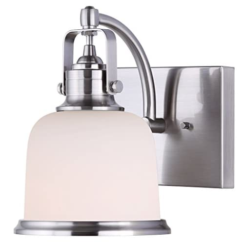 Canarm-Flannigan-1-Bulb-Vanity-Light-with-Flat-Opal-Glass---Brushed-Nickel
