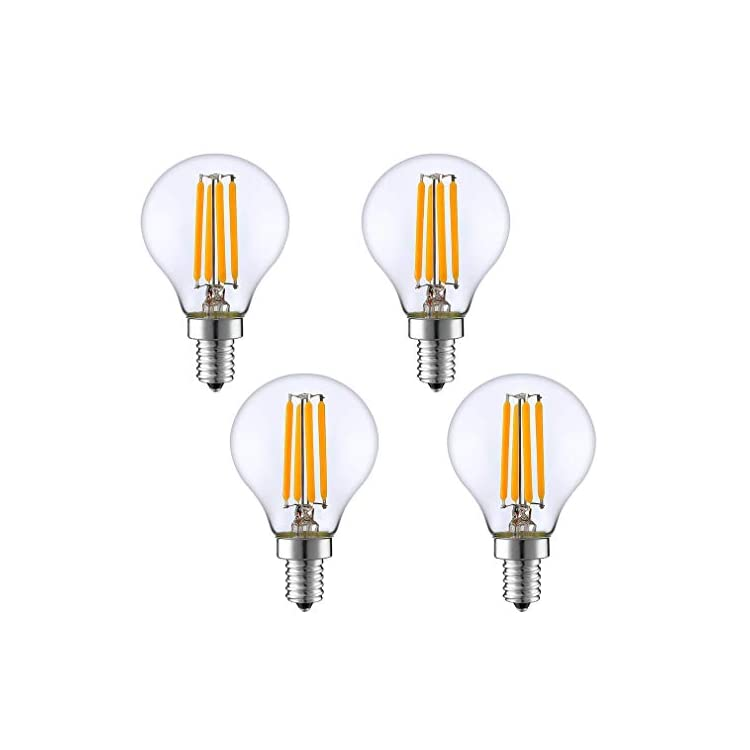 E14-4W-LED-Filament-Bulb-Dimmable-Vintage-Edison-Candle-Light-Bulb-4-Pack-2700K-Warm-White-G45-Clear-Glass-Globe-Lamp-400LM-40W-Equivalent,-AC-110V