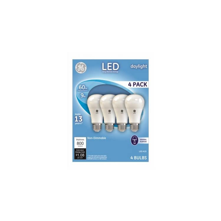 62010-4PK-WHT-4-Pack-9W-Daylight-A19-Shape-LED-Light-Bulb