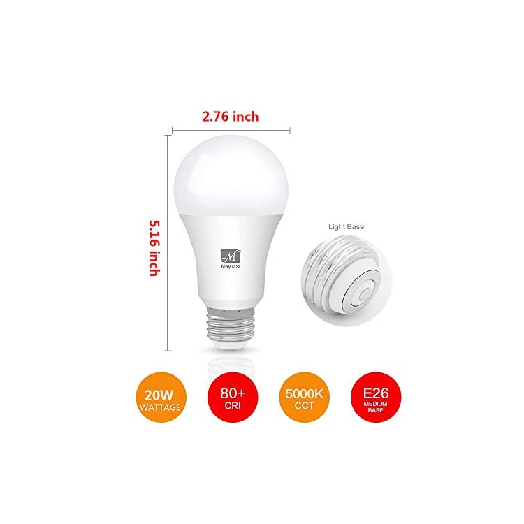 4-Pack-(150-200W-Equivalent)-Standard-Replacement,A21-20W-2200-Lumens-Non-Dimmable-Led-Light-Bulb-5000K-Daylight-Lamp,E26-Medium-Screw-Base-Led-Bulb