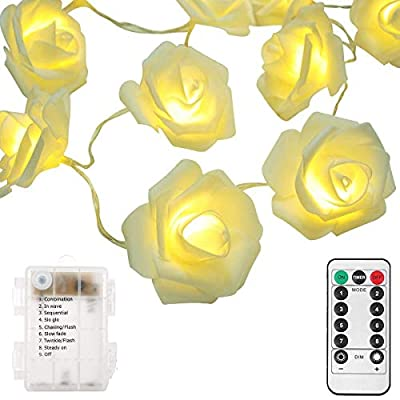 Battery-String-Lights,-20-LED-7.2ft-Rose-String-Lights-8-Modes-With-Remote-Valentine's-Lights-String-Decorative-Indoor-for-Home,-Holiday,-Bedroom,-Wedding,-Party,-Valentine-Mother-Day-Warm-White