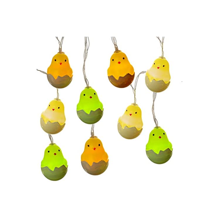 Newborn-Chick-Easter-String-Lights---Flash/Steady-On-10-FT-20-LEDs---Battery-Operated---Indoor-Decorative-Fairy-Twinkle-Lights