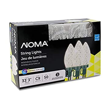 LED-Christmas-Lights-|-50-Count-C9-Clear-Warm-White-Bulbs-|-33'-3'-String-Light-|-UL-Certified-|-Outdoor-&-Indoor