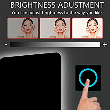 36'x28'-LED-Hard-Wire-Circular-Corner-Large-Backlit-Anti-Fog-Bathroom-Vanity-Mirror-Lighted-Framelss-Defogger-Makeup-Wall-Mounted-Mirrors-Dimmable-Touch-On-Button-(Horizontal/Vertical)