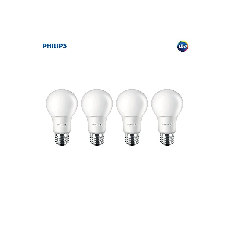 Non-Dimmable-A19-Frosted-Light-Bulb:-1500-Lumen,-5000-Kelvin,-14-Watt-(100-Watt-Equivalent),-E26-Medium-Screw-Base,-Daylight,-4-Pack,-455717