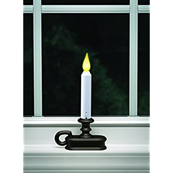 Battery-Operated-LED-Dusk-to-Dawn-Light-Sensor-Window-Candle-with-Aged