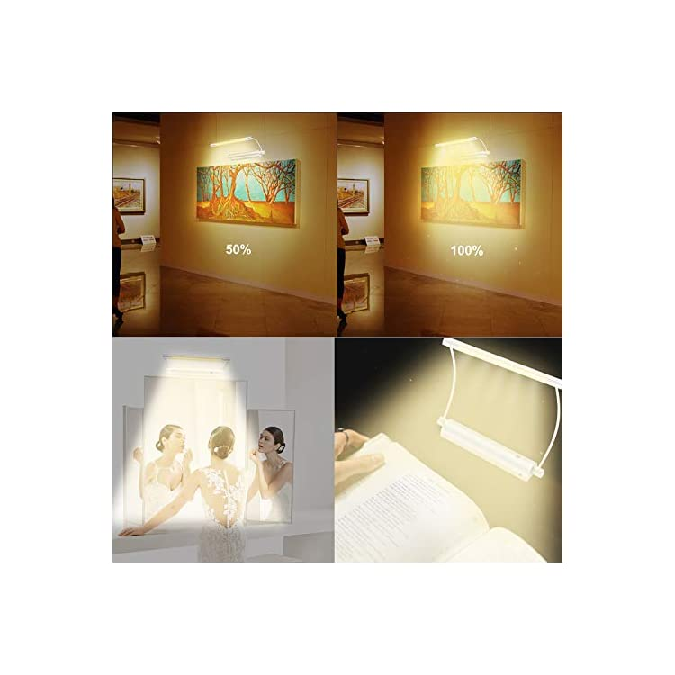 Wireless-Picture-Light-with-Remote,-Painting-Lighting-Battery-Powered,-9-Inch-Rotatable-Light-Head-Art-Accent-Light,-Timer-Auto-Off,-3-Modes-Dimmable-Display-Light-for-Picture-Canvas-Artwork