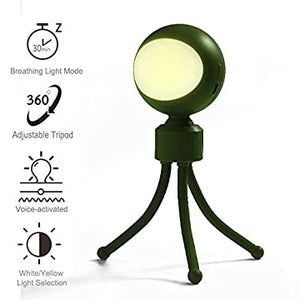 Kids-Night-Light-Gifts-Baby-Night-Light-with-360°-Flexible-Tripod-Dimmable-Sound-Control-Timing-Sleep-Function-for-Bedroom-Boys-Girls-(Green)