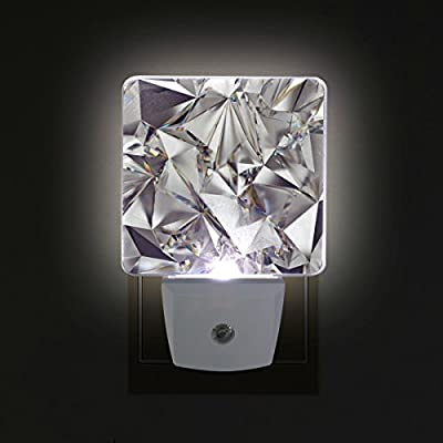 Set-of-2-Glitter-3D-Abstract-Diamond-Crystal-Clear-Texture-Print-Auto-Sensor-LED-Dusk-to-Dawn-Night-Light-Plug-in-Indoor-for-Adults
