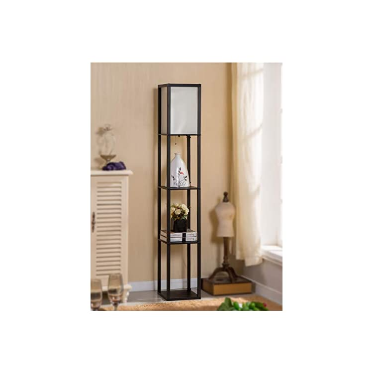 LED-Shelf-Floor-Lamp---Asian-Wooden-Frame-Modern-Standing-Lamps-for-Li