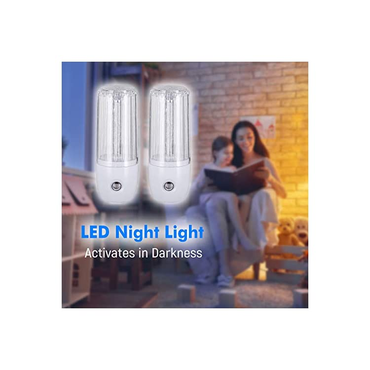 LED-Plug-in-Night-Light-with-Auto-Dusk-to-Dawn-Sensor,UL-Warm-White,-[2-Pack],-Indoor-Light-Bathroom,-Hallway,-Stairs,-Pantry,-Laundry-Room-and-Walk-in-Closet-Compact-and-Energy-Efficient