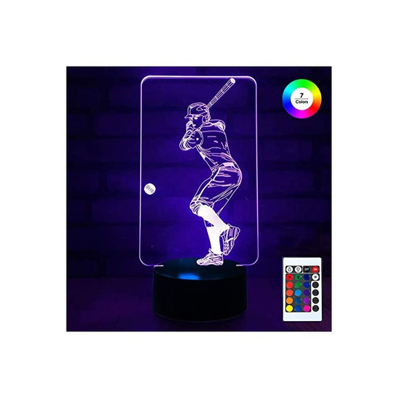 3D-Remote-Night-Stand-Light,-EpicGadget-Optical-Illusion-Visualization-LED-Night-Light-Lamp-7-Colors-Changing-Remote-Control-Night-Light-Lamp-Stand-(Baseball-Player)