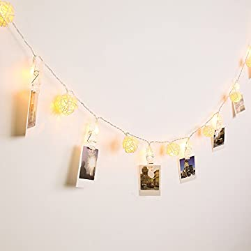 LED-Indoor-Decoration-String-Light,-40LED-Photo-Clips-and-Balls,-4M-Decorative-Lighting-2Modes-(Flash-&-Stable)-Ideal-for-Wedding,-Christmas,-Party-(Warm-White)