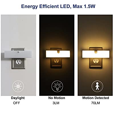 Motion-Sensor-Night-Light,-LED-NightLight-Plug-in-with-High-Low-Brightness-Adjustable,-Warm-White-Night-Lights-for-Bathroom,-Garage,-Stair,-Hallway,-UL-Listed