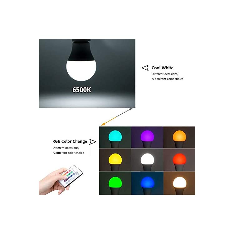 RGBW-LED-Bulbs,-Remote-Control-5W-A19-E26-RGB-Bulbs-Dimmable,-Daylight-White-6500K-and-RGB-Color-Change-Bulb-for-Home,-Office,-Stage,-Bar-and-Party-(2-Pack)