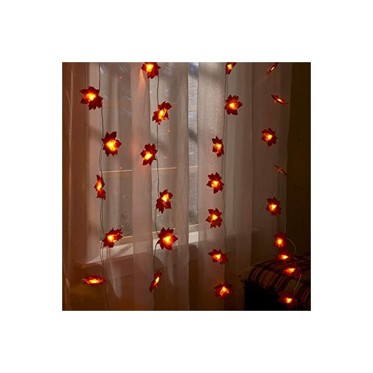 Thanksgiving-Fall-Maple-Leaf-String-Lights,-Home-Decoration-Indoor/Outdoor,-Waterproof-Led-Lights-with-Remote-Control,-Halloween-Decoration-and-Christmas-Decoration-(9.8-ft,-20-LED)