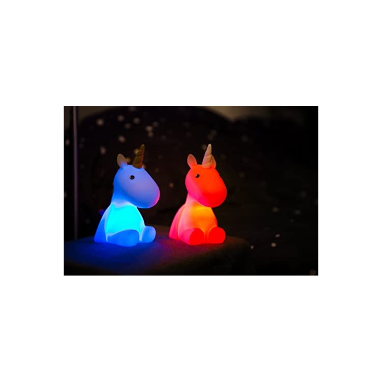 Dhink-Unicorn-Night-Light-for-Kids-Bedroom-Rechargeable-Battery-with-Timer-Dimmable-(Rainbow)